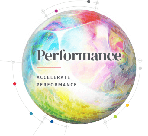 Spherical Performance Icon: Accelerate Performance